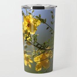 Closeup of Palo Brea Branch in Bloom Travel Mug