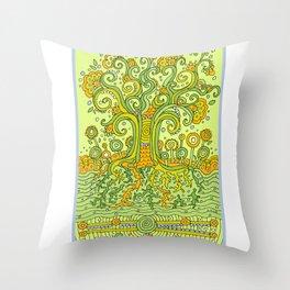 Treedum Throw Pillow