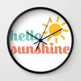 Hello Sunshine Wall Clock