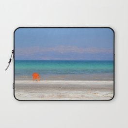 dead sea, orange chair Laptop Sleeve