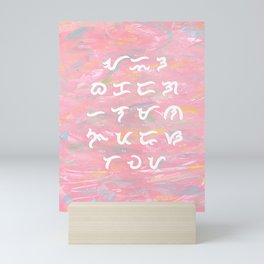 Baybayin Kodigo in Pink Mini Art Print