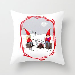 Snow and Stories Throw Pillow