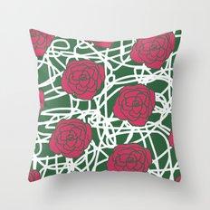ROSE SQUIGGLE Throw Pillow