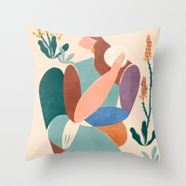 Becoming Throw Pillow
