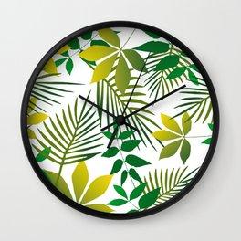 Junge Leaf pattern Wall Clock
