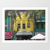Chinese shop house, Malaysia Art Print