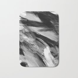 Abstract Artwork Greyscale #1 Bath Mat