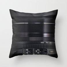 Camera Lens Throw Pillow
