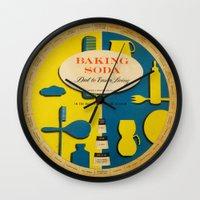 baking Wall Clocks featuring Baking Soda Wheel Clock by Design Observer