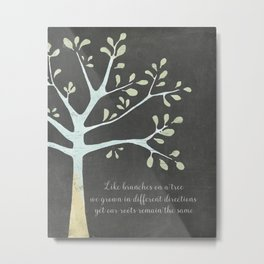 Family tree style quote Metal Print
