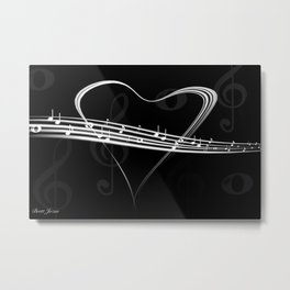 DT MUSIC 6 Metal Print