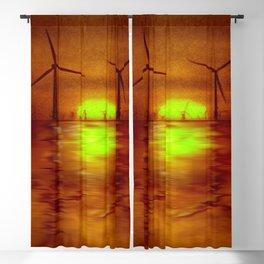 As the Sun goes down (Digital Art) Blackout Curtain
