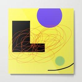 Digital Abstract Composition 6 Metal Print