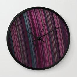 Fractal Rainbow pink Wall Clock