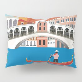 Venice, Italy - Skyline Illustration by Loose Petals Pillow Sham