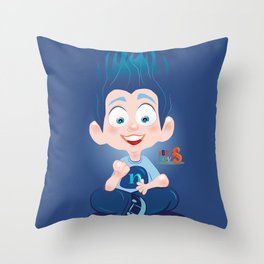 Nuly/Character & Art Toy design for fun Throw Pillow