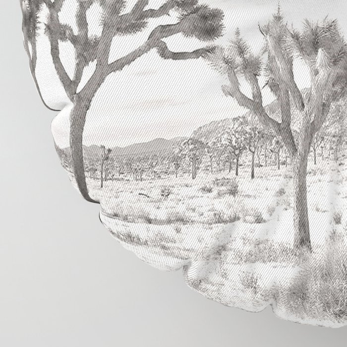 Joshua Tree Grey By CREYES Floor Pillow