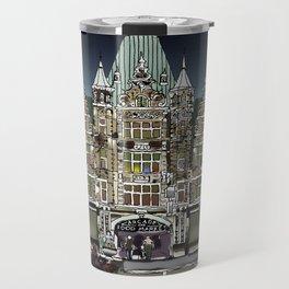 Dayton Arcade in Film Ink and Pixels Travel Mug