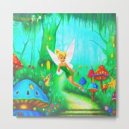 Tinkerbell's Flight Metal Print