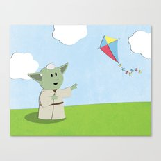 SW Kids - Yoda Kite Canvas Print