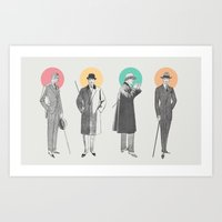 classy Art Prints featuring Classy by Zeke Tucker