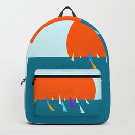 Minimal regatta in the sun Backpack