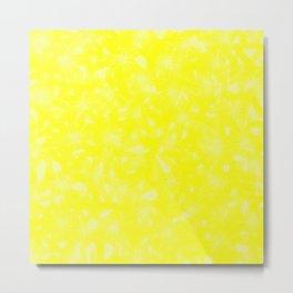 Yellow Abstract Metal Print
