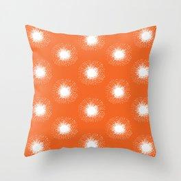 Solar Flare / Orange Sun Pattern Throw Pillow