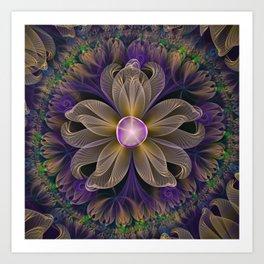 Bohemian Iris of Lavender Potpourri and Green Sage Art Print