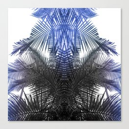 Blue and Gray fern Canvas Print