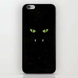 """Black Cat"" Halloween Poster iPhone Skin"