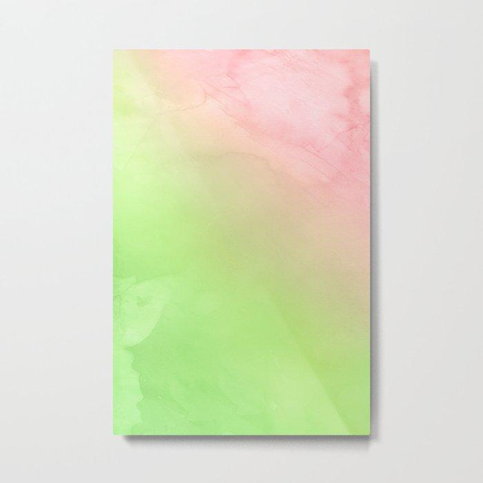 Greenery and Rose Quartz Metal Print