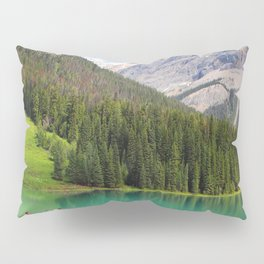 Boats on Emerald Lake Pillow Sham