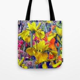Yellow Iris Abstract Tote Bag