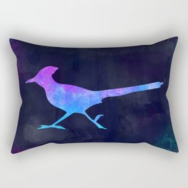 ROADRUNNER IN SPACE // Animal Graphic Art // Watercolor Canvas Painting // Modern Minimal Cute Rectangular Pillow
