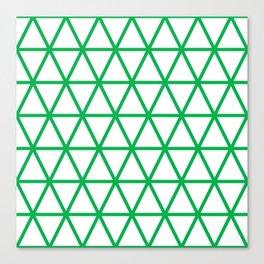 Green Triangle Pattern 2 Canvas Print