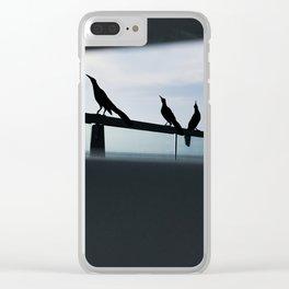 Cancun Birds Clear iPhone Case