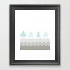 Trees {The Boring Afternoon Design Series} Framed Art Print