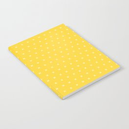 Yellow and white cross sign pattern Notebook