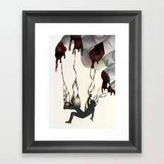 Rabbit in Your Headlights Framed Art Print