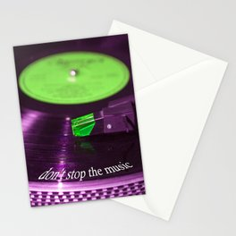 Don't stop the music Stationery Cards