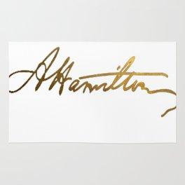 Alexander Hamilton Gold Signature Rug