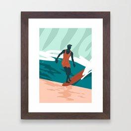 Solo Surf Framed Art Print