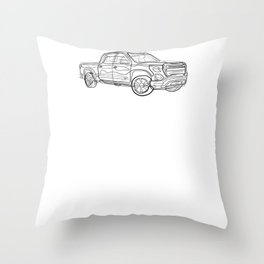 Pickup Truck - One Line Drawing Throw Pillow