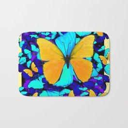 Blue & Yellow Butterfly  Potpourri Bath Mat