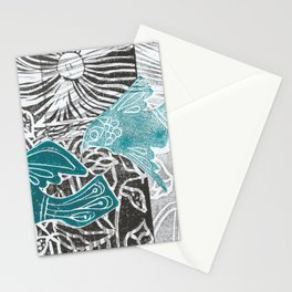Taking Flight linocut Stationery Cards