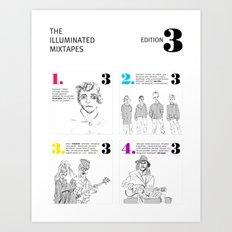 The Illuminated Mixtapes, Edition 3 Art Print