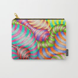 Striped Blobs Carry-All Pouch
