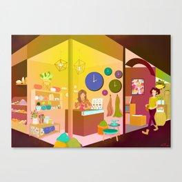 The Market Canvas Print