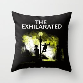 The Exhilarated Throw Pillow